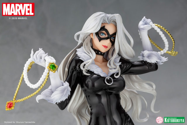 Close-Up of Kotobukiya 2020 Black Cat PVC Figure Statue Bishoujo