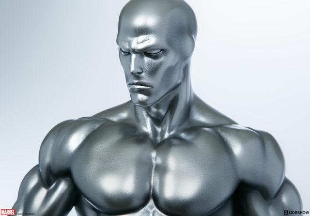 Close-Up of Silver Surfer Sideshow Collectibles Maquette Comic Con 2020