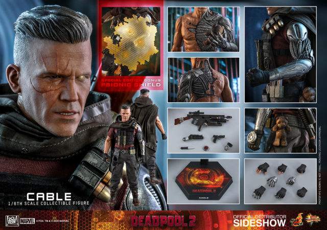 Hot Toys Cable Figure Special Edition with Psionic Shield
