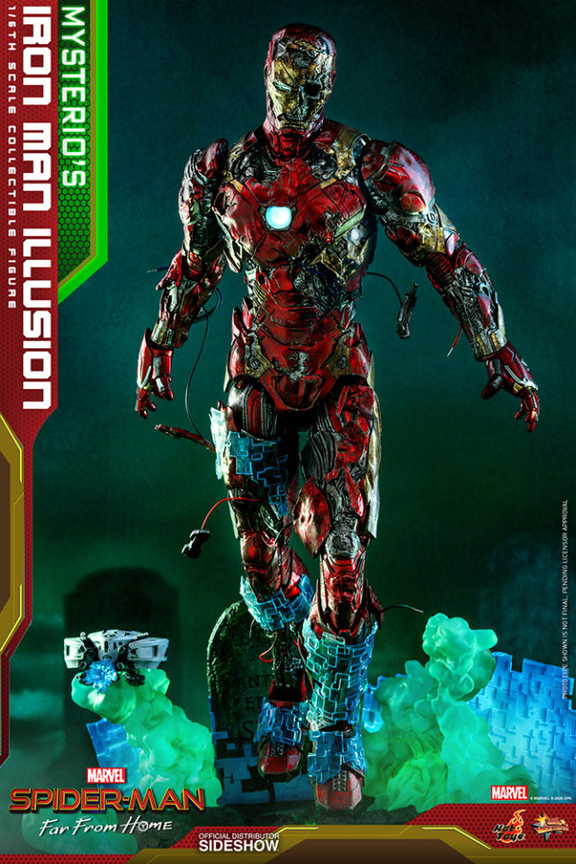 Hot Toys Illusion Iron Man Figure with Mysterio Diorama Base