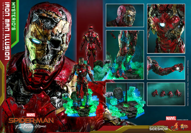 Hot Toys Mysterio's Illusion Iron Man Figure and Accessories