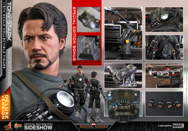 Hot Toys Tony Stark Mech Tech Version Deluxe Figure and Accessories