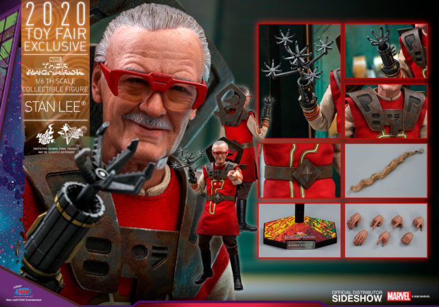 Hot Toys Toy Fair Exclusive 2020 Stan Lee Ragnarok Barber Figure and Accessories