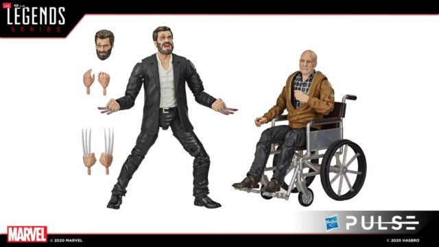 Marvel Legends Old Man Logan Movie Figure with Old Patrick Stewart Professor X