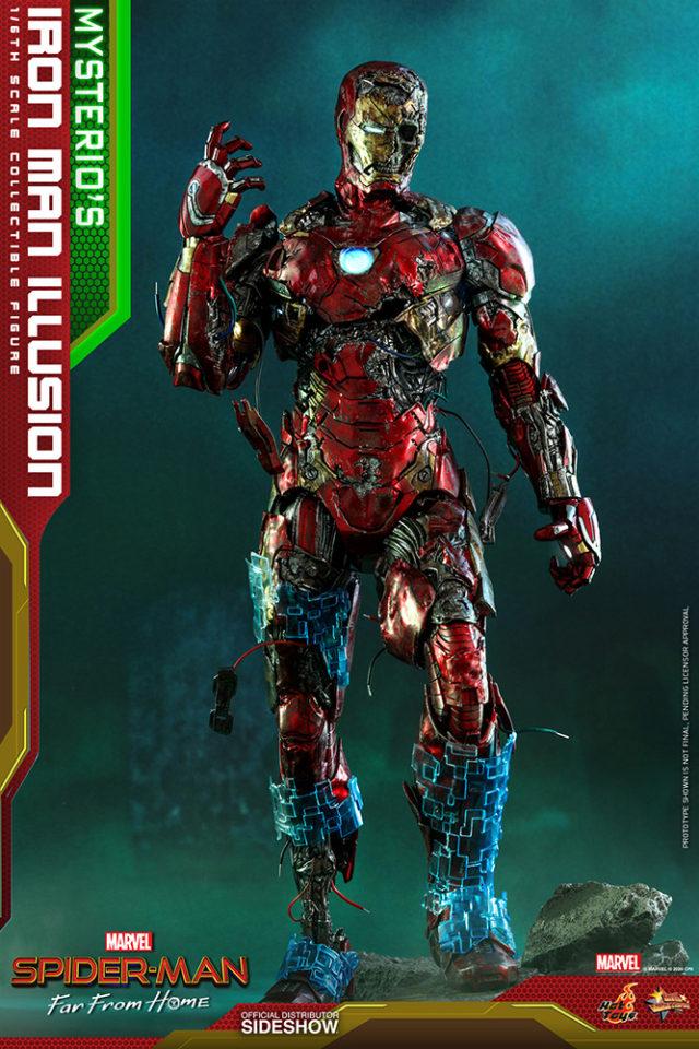 Mysterio's Illusion Iron Man Hot Toys Figure Graveyard Zombie