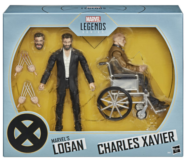 SDCC 2020 Exclusive Marvel Legends Logan Professor Xavier Movie Pack Packaged