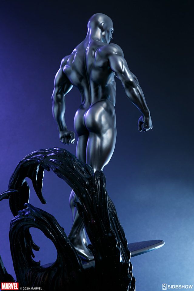 Silver Surfer Maquette Sideshow Collectibles Back
