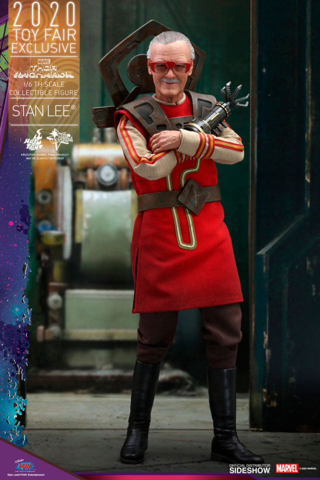 Thor Ragnarok Hot Toys Stan Lee Sixth Scale Figure Exclusive Cosmic Barber