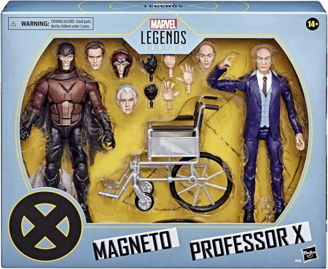 X-Men Marvel Legends Movie Figures Magneto Professor X 2-Pack Packaged
