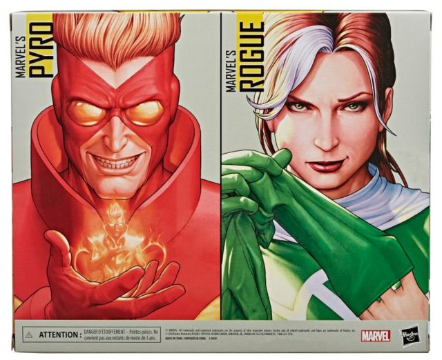 Box Back X-Men Legends Pyro Rogue Two-Pack Hasbro 2020