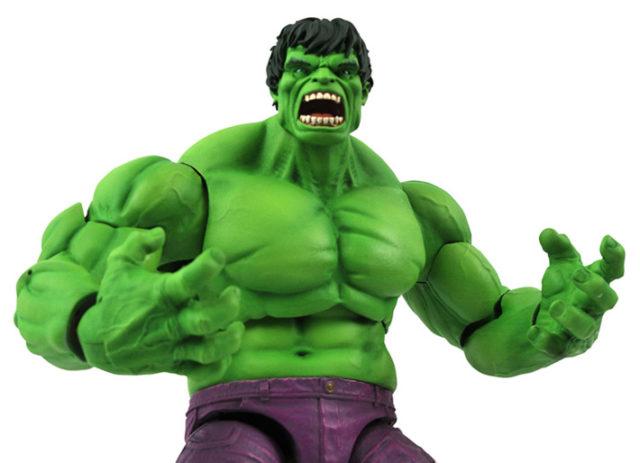 Close-Up of Rampaging Hulk Diamond Select Toys Marvel Select Figure