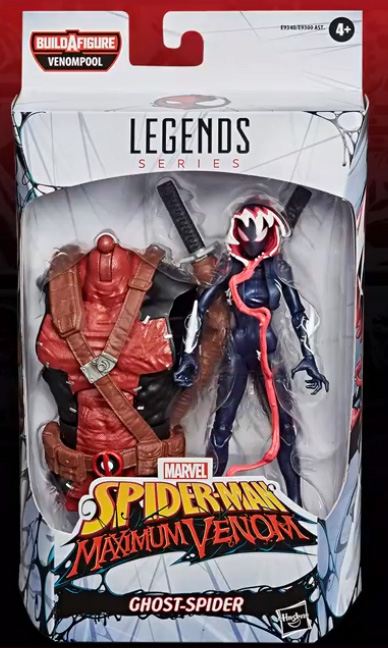 Marvel Legends Maximum Venom Ghost Spider Gwenom Packaged