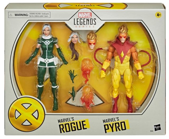 Marvel Legends Rogue and Pyro Two Pack Packaged