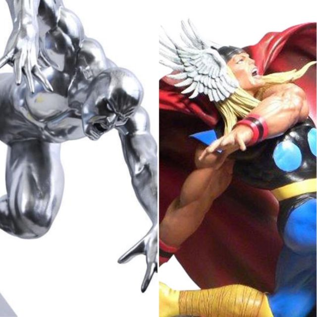 Marvel Premier Collection Silver Sufer and Thor Statues