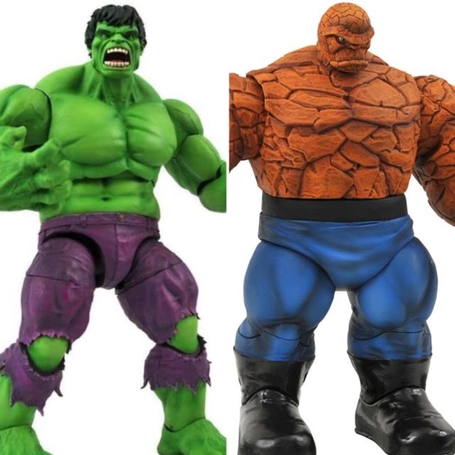 Marvel Select Rampaging Hulk and Thing Figures
