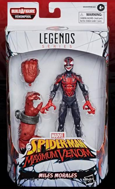 Maximum Venom Legends Miles Morales Venomized Figure