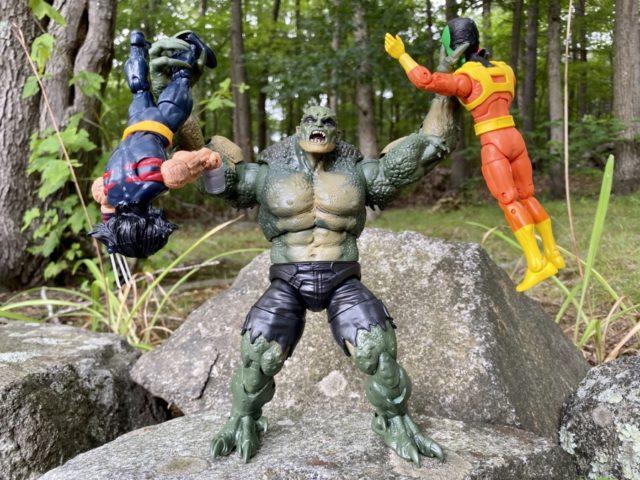 Marvel Legends Avengers GamerVerse Abomination Figure Holding Up Other Figures