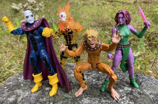 X-Men Age of Apocalypse Marvel Legends Sunfire Morph Blink Wild Child Action Figures