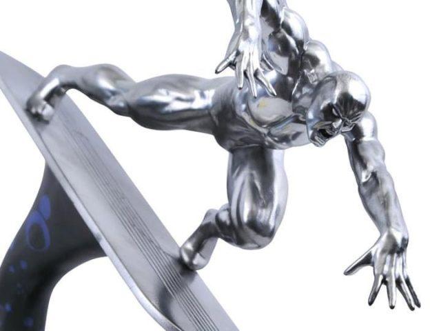 Marvel Premier Collection Silver Surfer Statue Close-Up