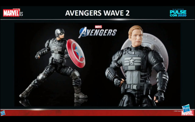 Marvel Legends GamerVerse Stealth Captian America with Photo Real Unmasked Head