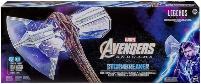 Marvel Legends Life Size Stormbreaker Axe Replica Packaged