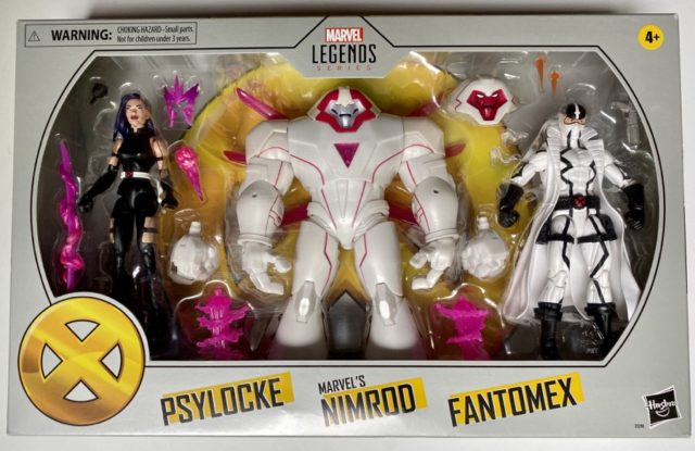 Marvel Legends X-Men Amazon 3-Pack Packaged Psylocke Nimrod Fantomex