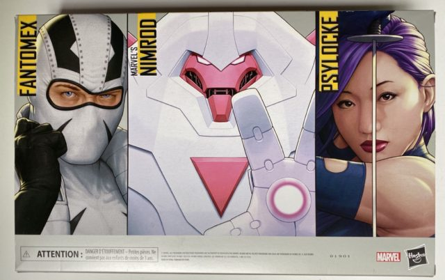 Box Back Amazon X-Men legends Nimrod Fantomex Psylocke 3-Pack