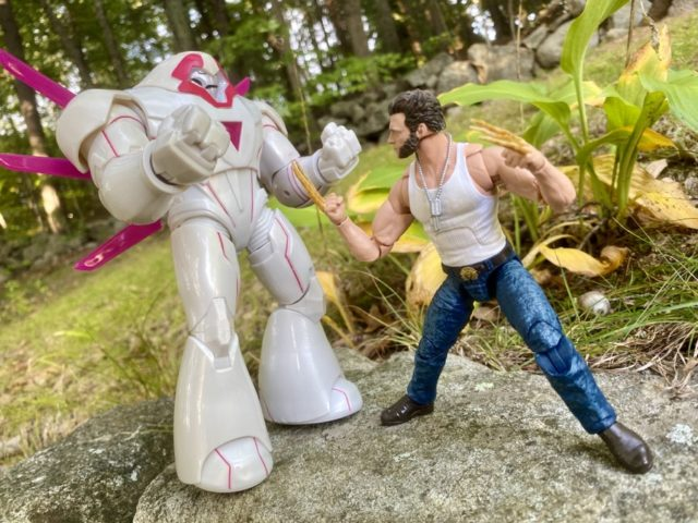 X-Men Legends Nimrod Action Figure vs Hugh Jackman Wolverine