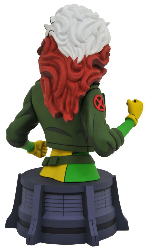 Back of X-Men Animated Rogue Bust Diamond Select Toys