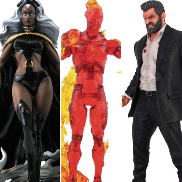 DST Marvel Gallery Storm Select Human Torch Premier Collection Logan Statue