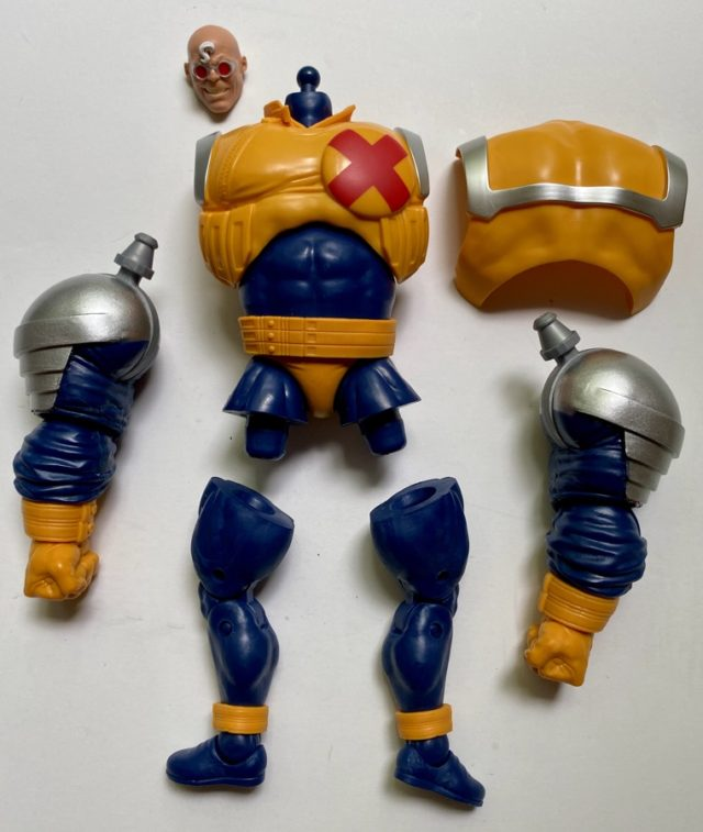 Unassembled Pieces of Strong Guy BAF Marvel Legends