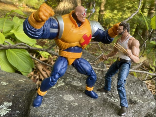 2020 Marvel Legends Movie Wolverine Logan vs Strong Guy Figure