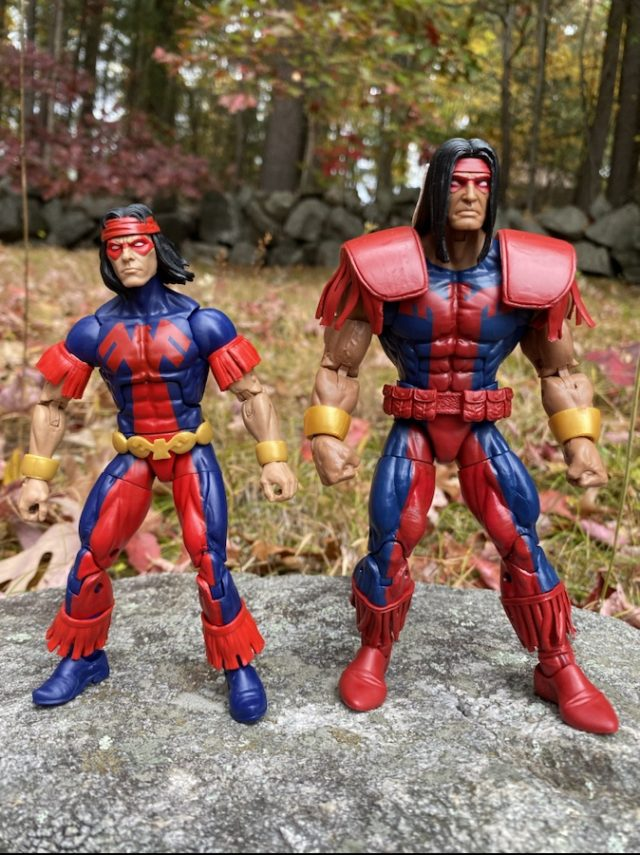 Comparison of 2020 Marvel Legends Thunderbird and Warpath Figures