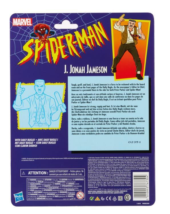 Cardback Spider-Man Legends J. Jonah Jameson Six Inch Action Figure Hasbro