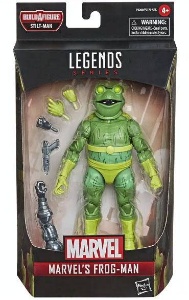 Marvel Legends 2021 Frog-Man Figure Packaged