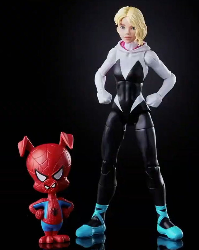 Marvel Legends Ghost Spider and Spider-Ham Figures Into the Spider-Verse