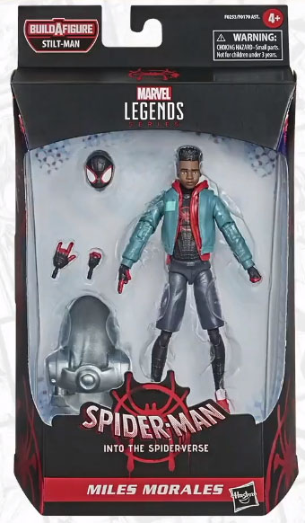 Marvel Legends Into the Spider-Verse Miles Morales Packaged