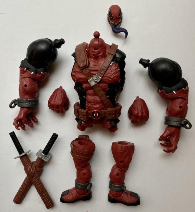 Unassembled Pieces of Marvel Legends Venompool BAF