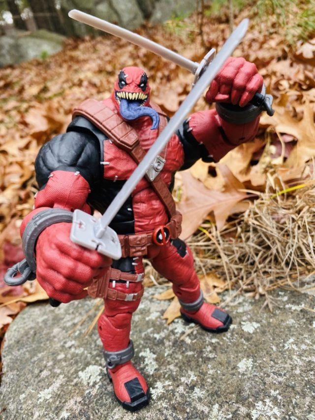 Venompool Hasbro Build-A-Figure Wielding Katanas Swords