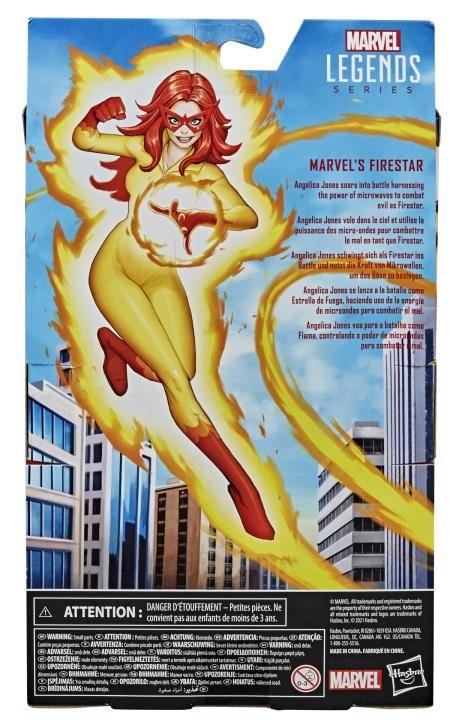 Box Back Firestar Marvel Legends 2021 Exclusive Figure