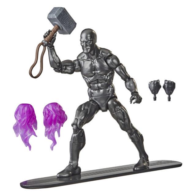 Fallen Silver Surfer Black Walgreens Exclusive Marvel Legends Figure with Mjolnir