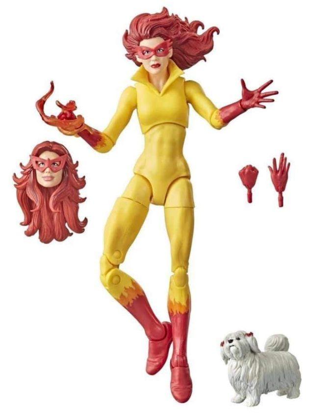 Firestar Marvel Legends 2021 Figure Exclusive with Ms. Lion Dog