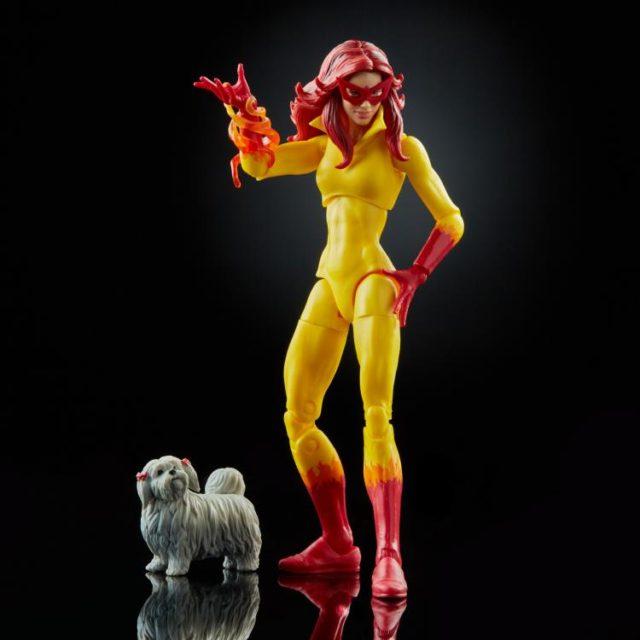 Firestar Marvel Legends Figure with Ms. Lion Dog