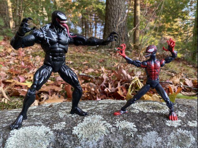 Venomized Marvel Legends Miles Morales Figure vs Movie Venom Marvel Legends