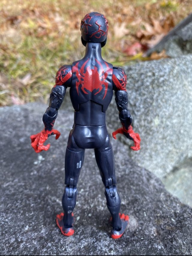 Back of Venom Legends Venomized Miles Morales Spider-Man Hasbro Figure
