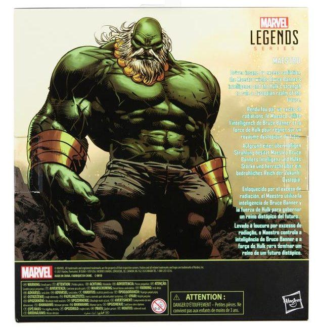 Box Back Hulk Marvel Legends The Maestro Figure