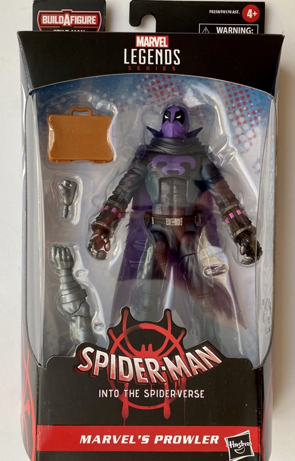 Hasbro Spider-Man Legends Prowler Spider-Verse Figure Packaged