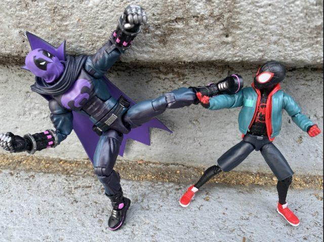 Spider-Man Legends Prowler Uncle Aaron vs Miles Morales Spider-Man Hasbro 2021 Stilt-Man Series