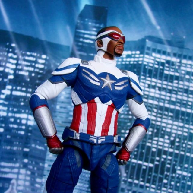 Close-Up of Sam Wilson Captain America Marvel Select Figure