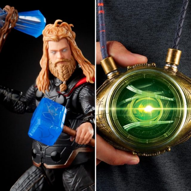 Marvel Legends 2021 Eye of Agamotto Prop Replica and Infinity Saga Thor
